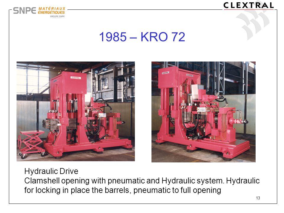 1985 – KRO 72 Hydraulic Drive.