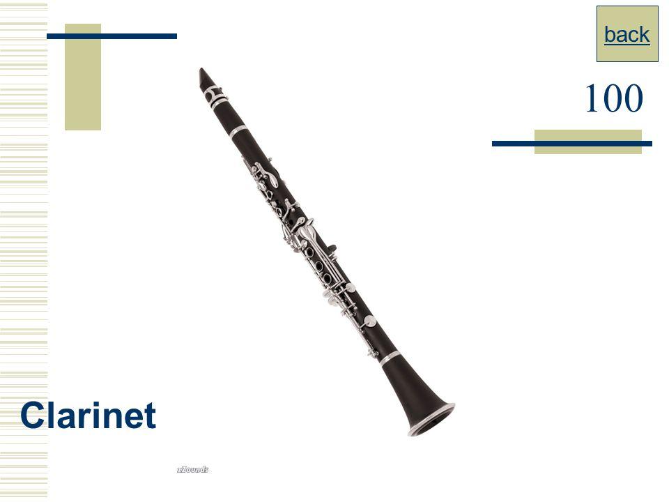 back 100 Clarinet