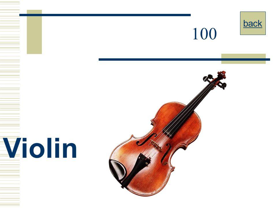 back 100 Violin