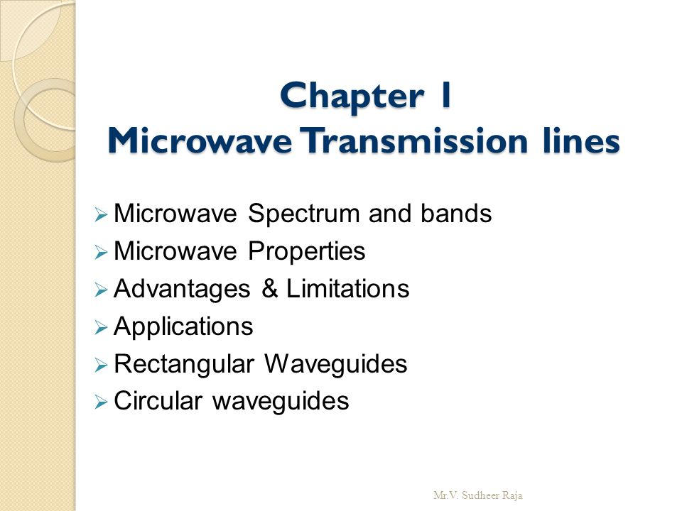 Chapter 1 Microwave Transmission lines