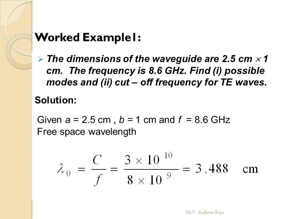 Worked Example1: