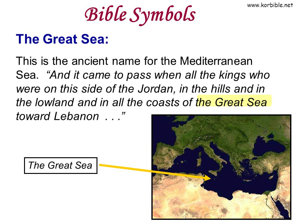 Bible Symbols The Great Sea: