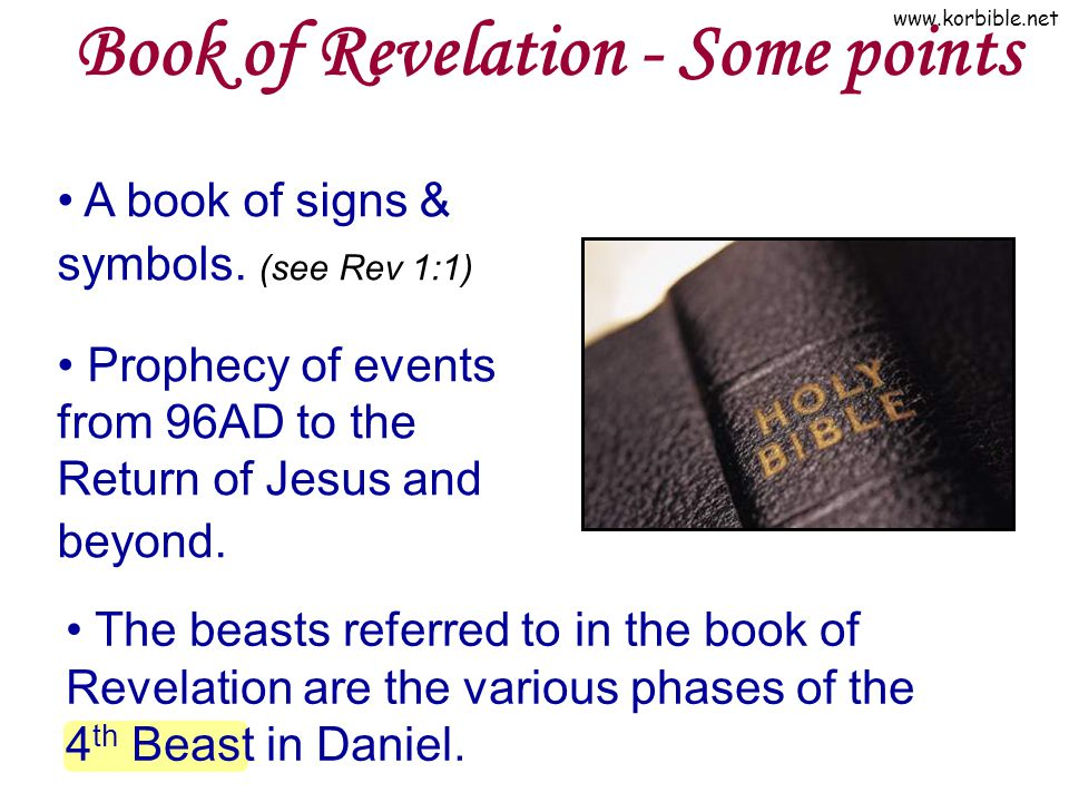 Book of Revelation - Some points