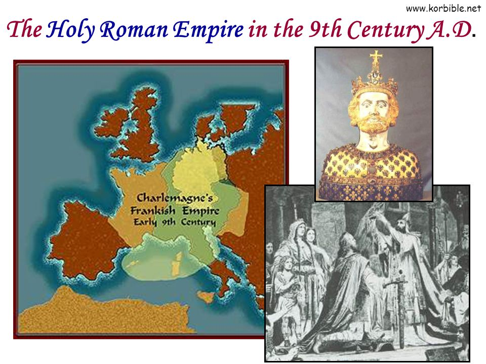The Holy Roman Empire in the 9th Century A.D.