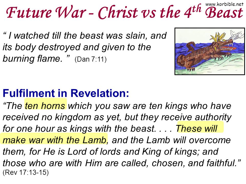 Future War - Christ vs the 4th Beast