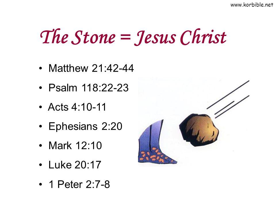The Stone = Jesus Christ