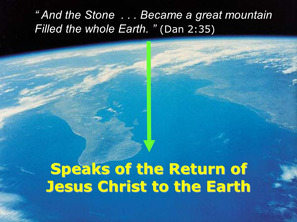 Speaks of the Return of Jesus Christ to the Earth
