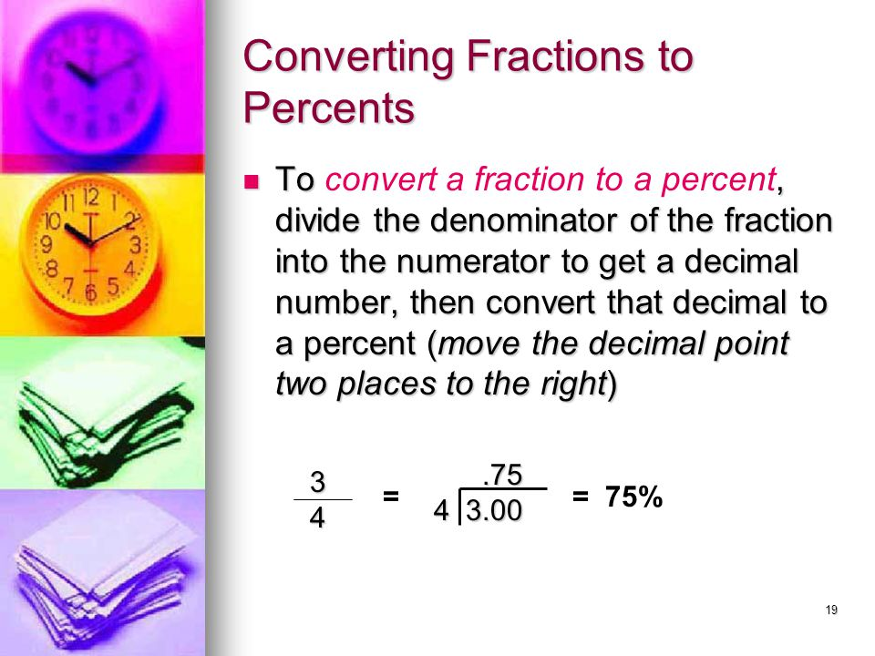 Converting Fractions to Percents