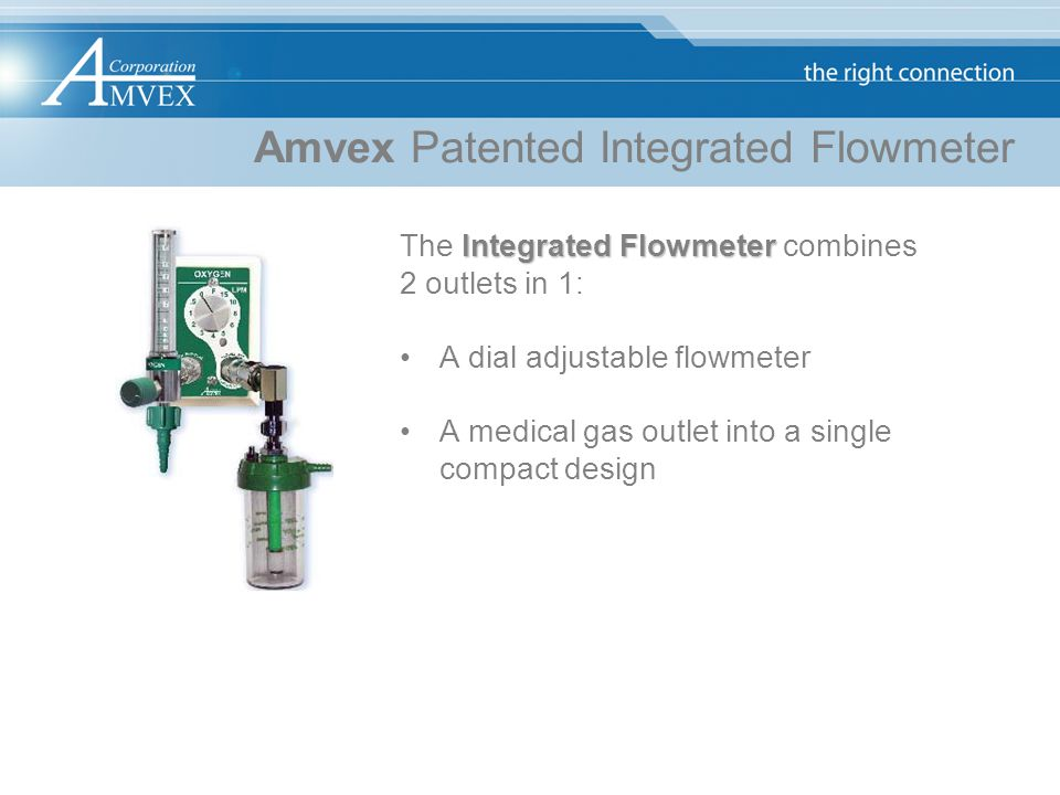 Amvex Patented Integrated Flowmeter