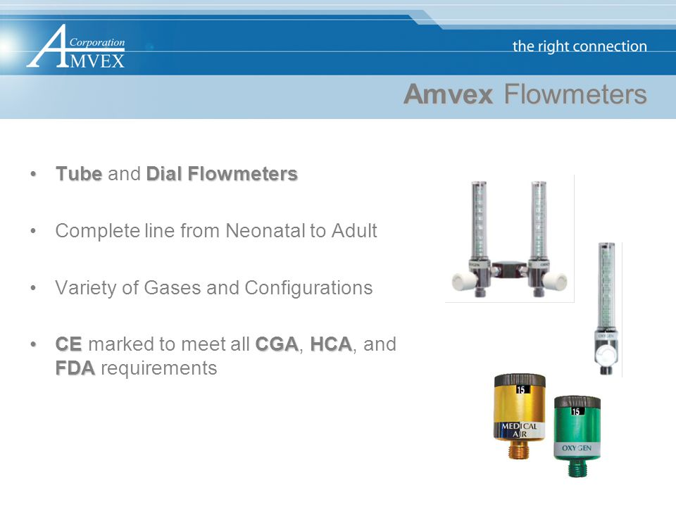 Amvex Flowmeters Tube and Dial Flowmeters