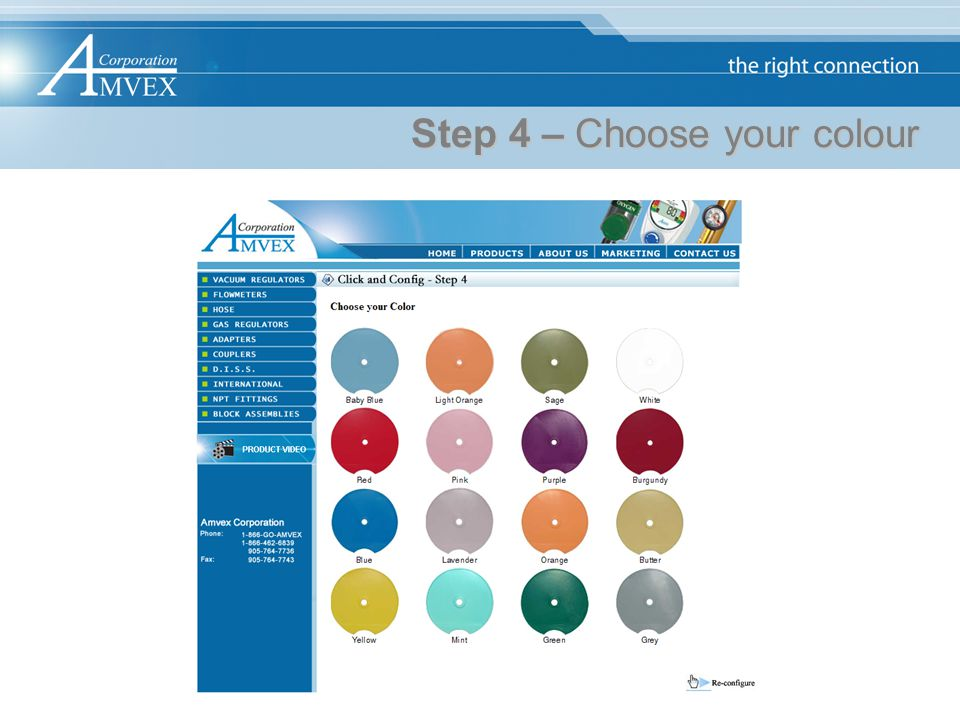 Step 4 – Choose your colour