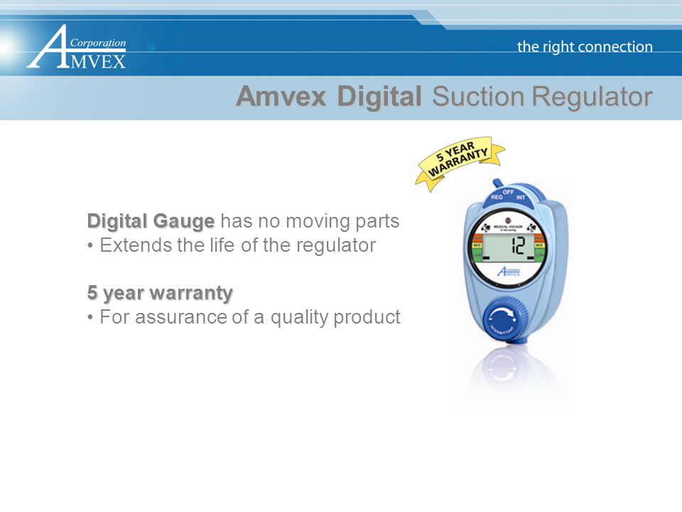Amvex Digital Suction Regulator