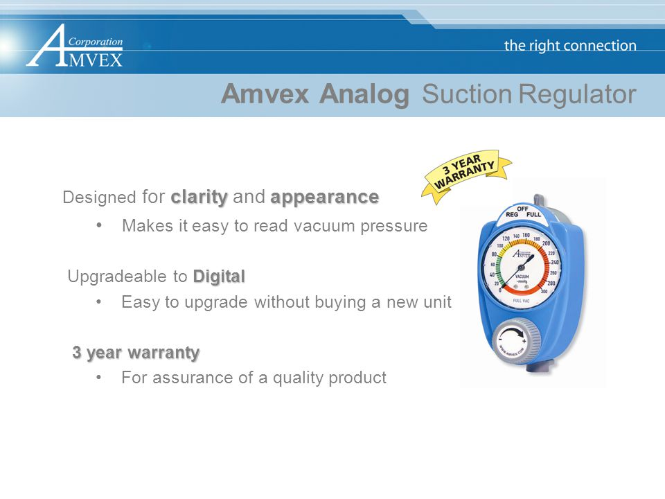 Amvex Analog Suction Regulator