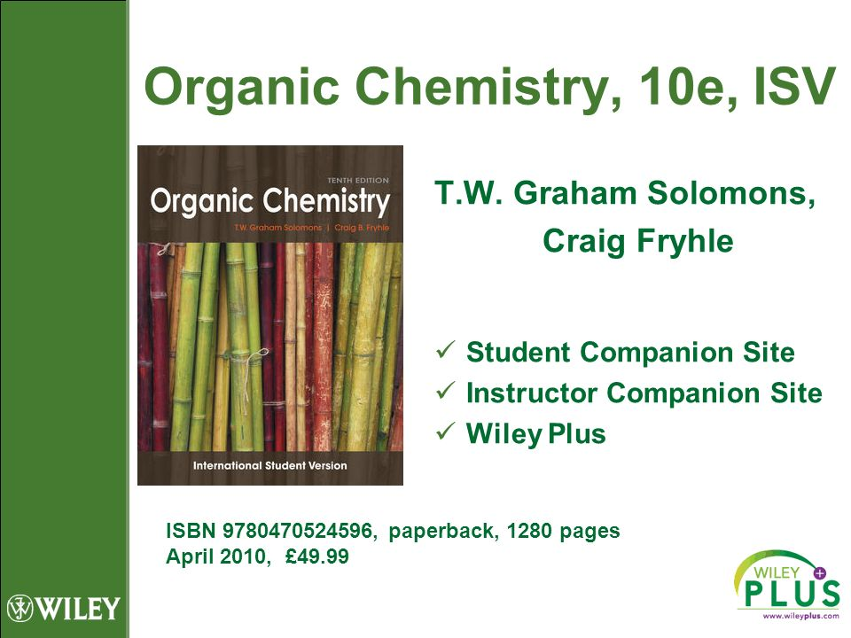 Organic Chemistry, 10e, ISV