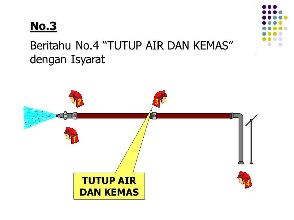 Beritahu No.4 TUTUP AIR DAN KEMAS dengan Isyarat