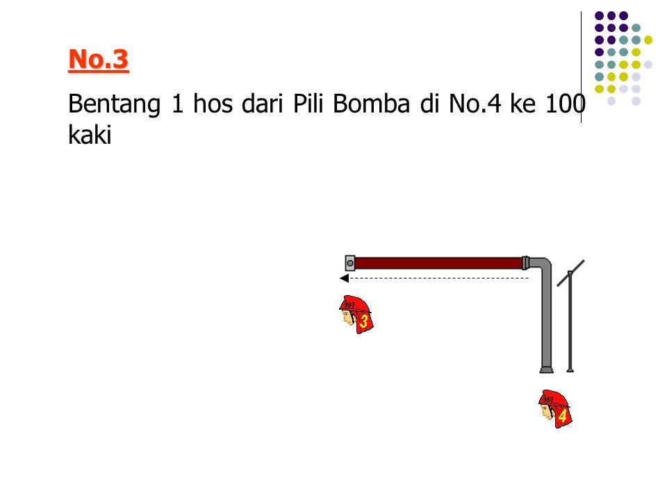No.3 Bentang 1 hos dari Pili Bomba di No.4 ke 100 kaki