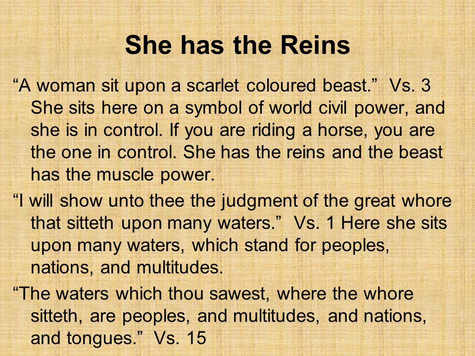 She has the Reins