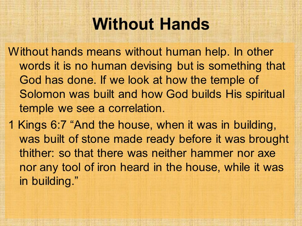Without Hands