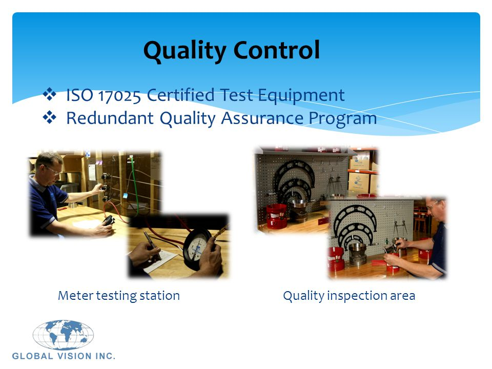Quality Control ISO 17025 Certified Test Equipment