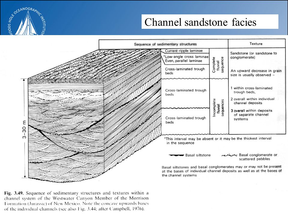 Channel sandstone facies