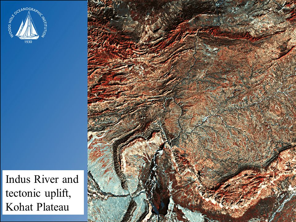 Indus River and tectonic uplift, Kohat Plateau