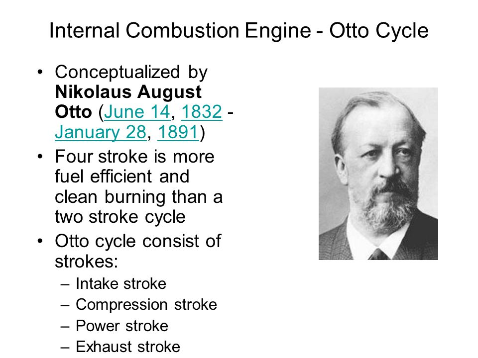 the otto cycle internal combustion engine In an internal combustion engine cycle of combustion - otto cycle engine (combustion at constant and dual-combustion cycle internal combustion engines 129.