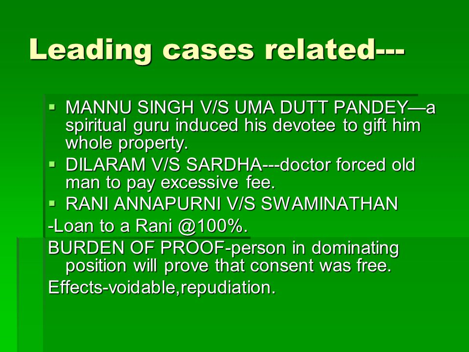 Leading cases related---