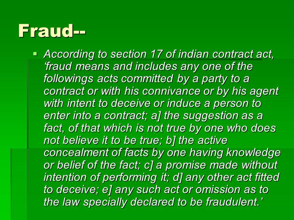 Fraud--