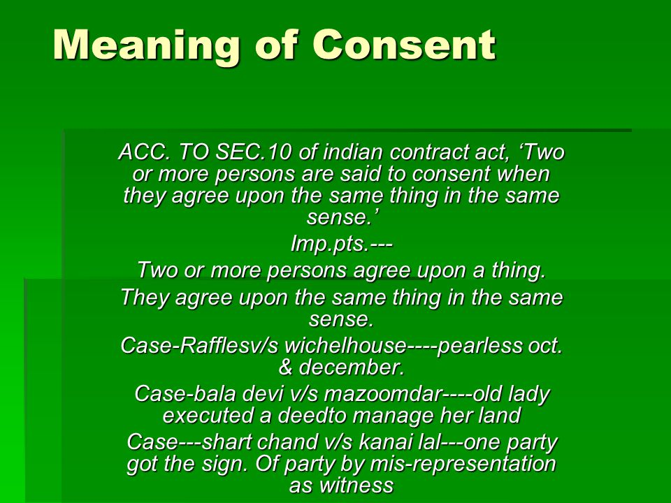 Meaning of Consent Your Text Here