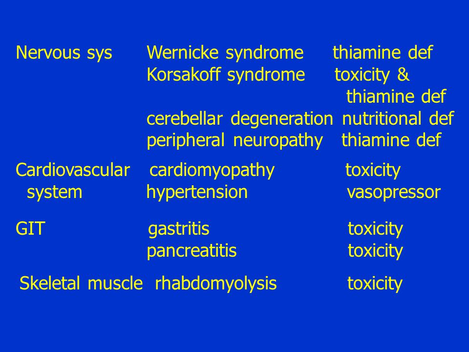Nervous sys Wernicke syndrome thiamine def