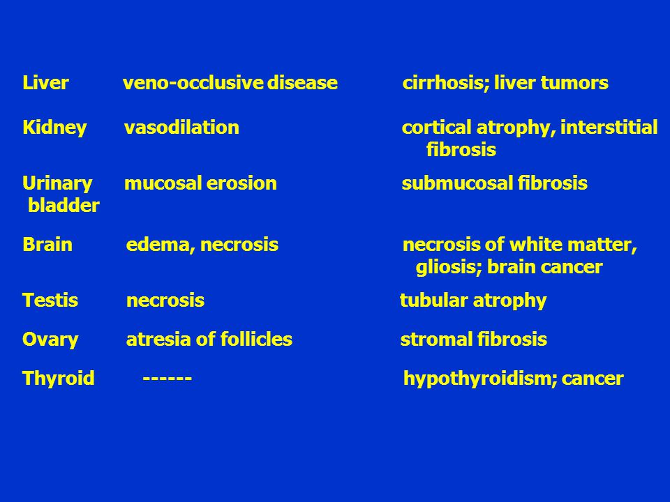 Liver veno-occlusive disease cirrhosis; liver tumors