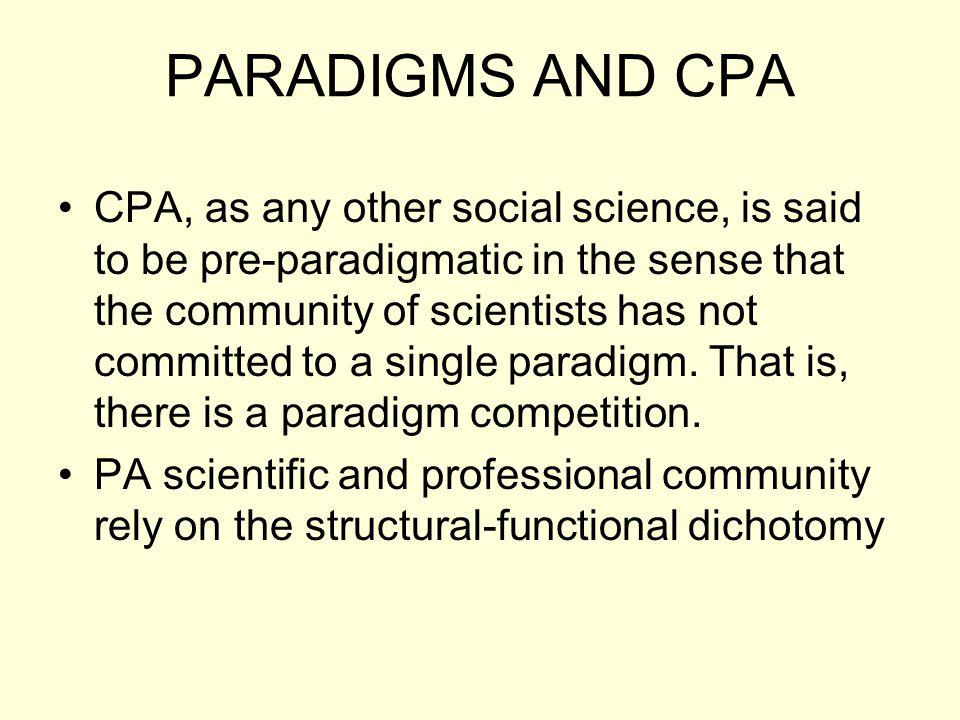 PARADIGMS AND CPA
