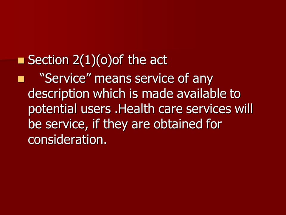 Section 2(1)(o)of the act