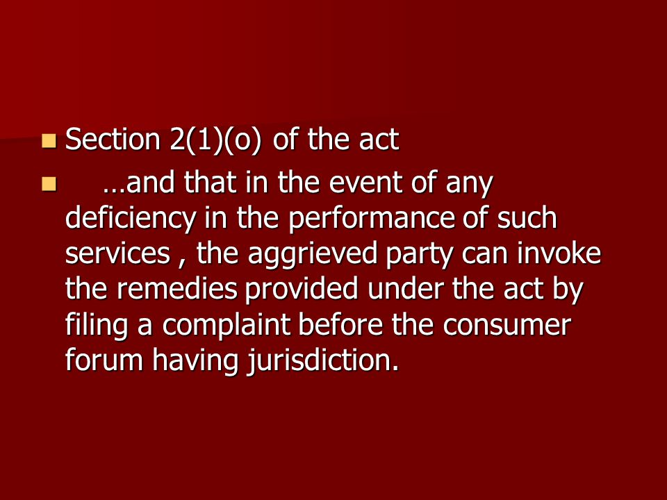 Section 2(1)(o) of the act