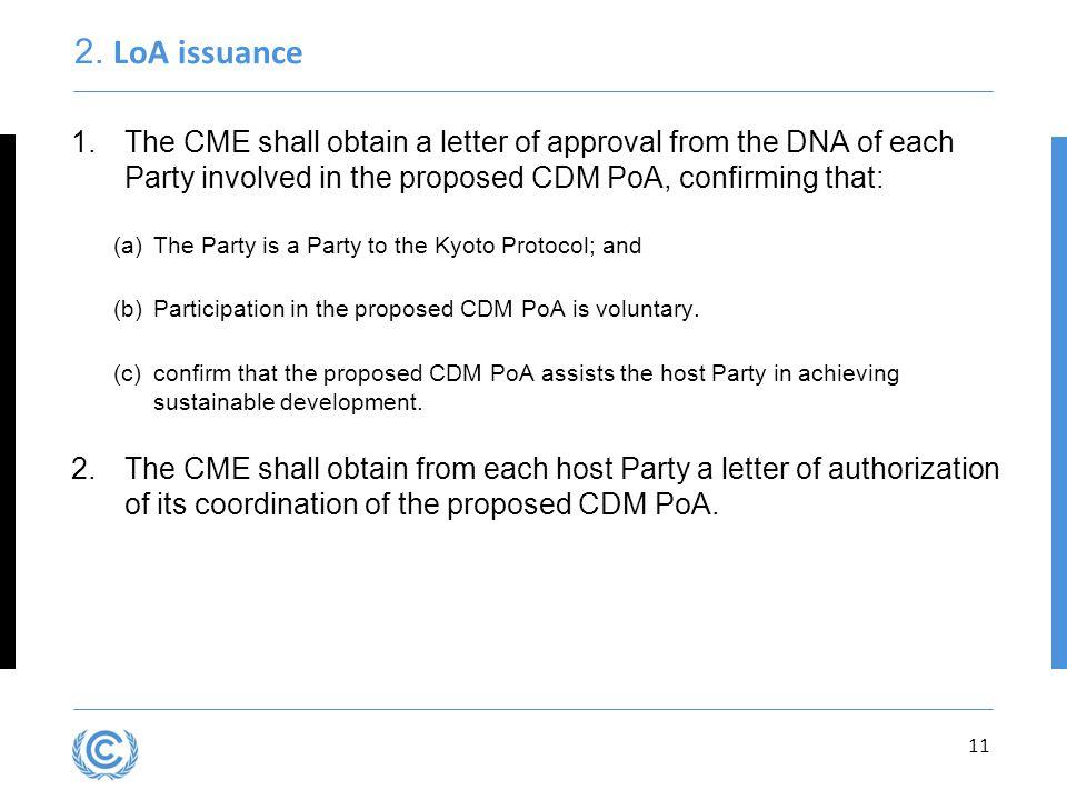 Presentation title 2. LoA issuance.