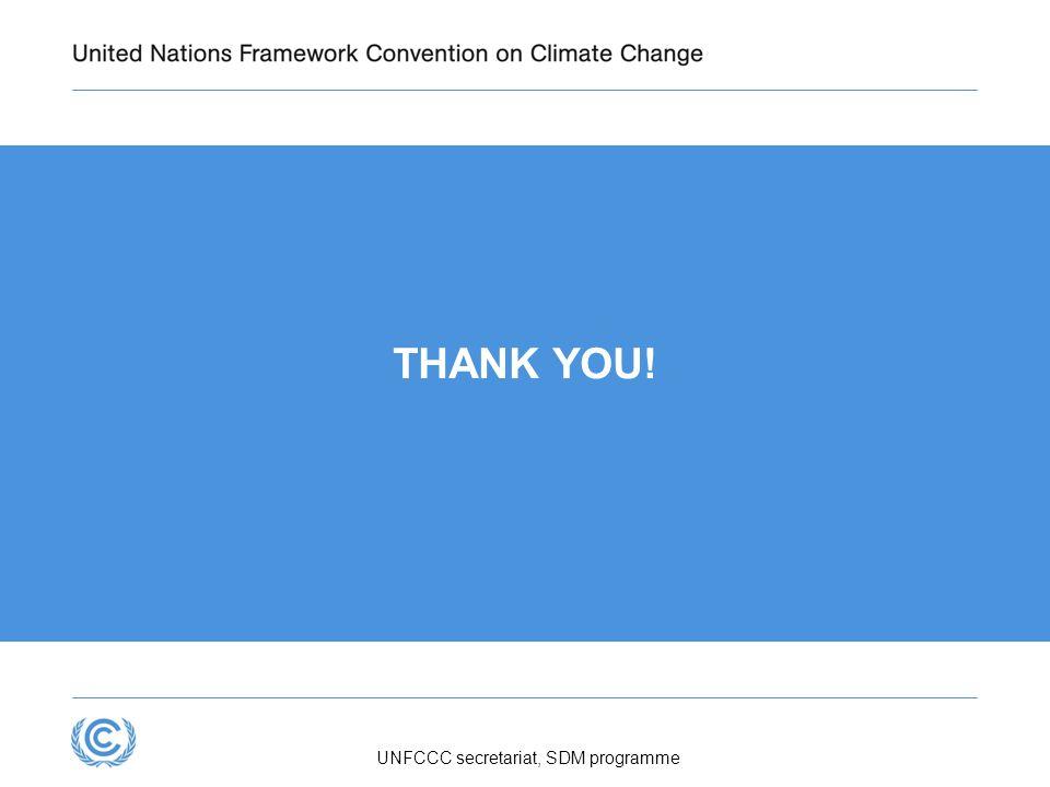 Presentation title THANK YOU! UNFCCC secretariat, SDM programme