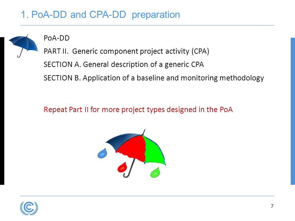 1. PoA-DD and CPA-DD preparation