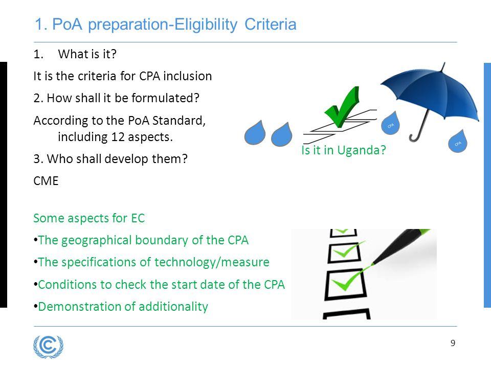 1. PoA preparation-Eligibility Criteria