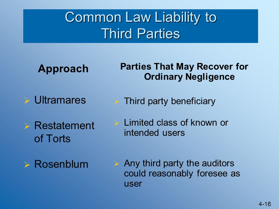 Common Law Liability to Third Parties