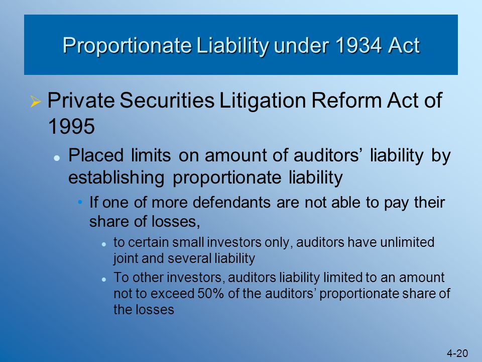 Proportionate Liability under 1934 Act