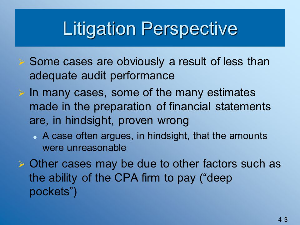 Litigation Perspective