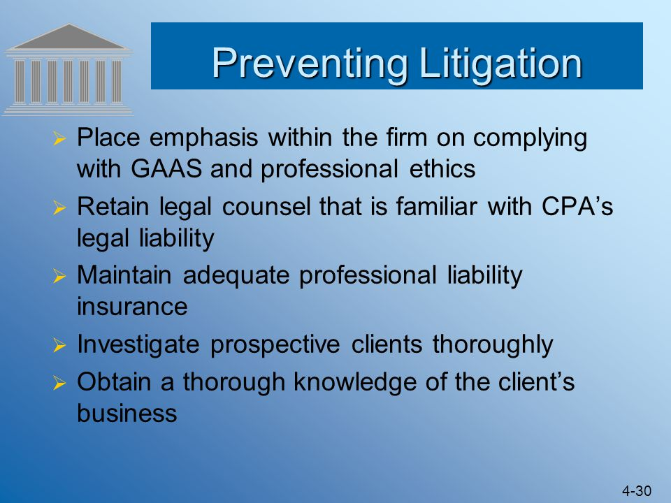 Preventing Litigation