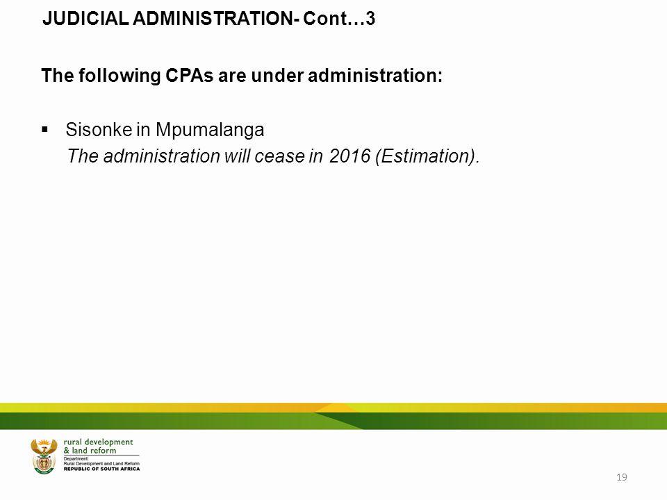 JUDICIAL ADMINISTRATION- Cont…3