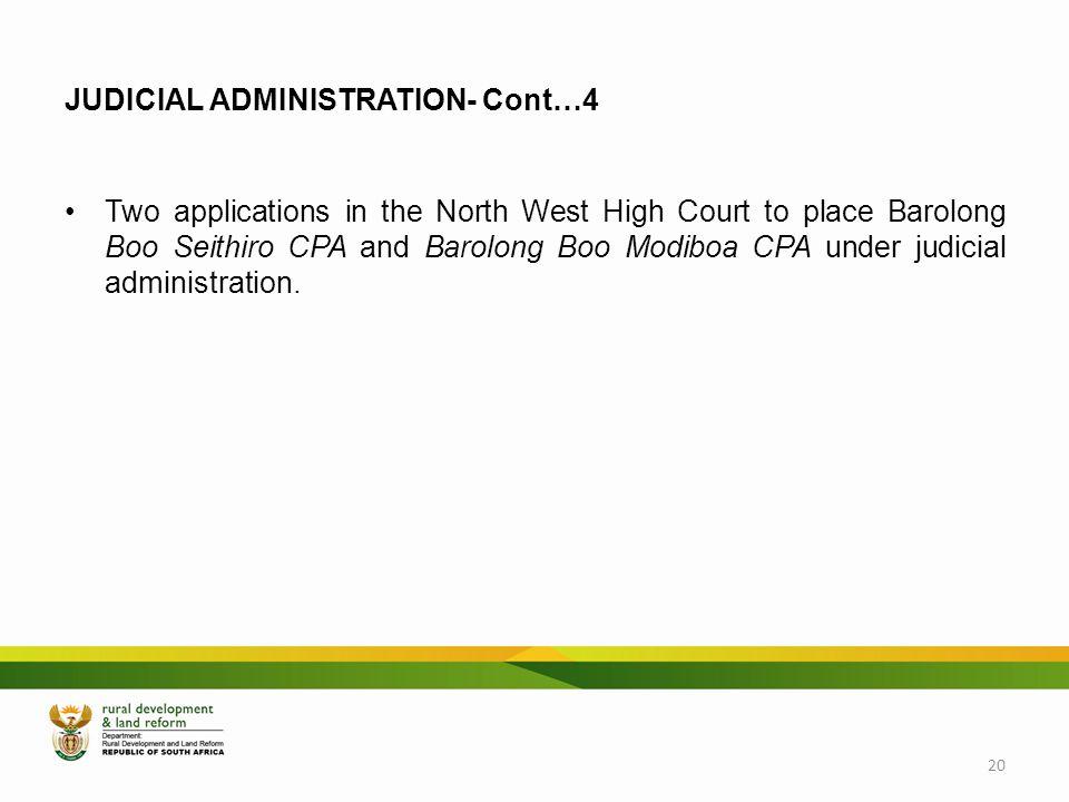 JUDICIAL ADMINISTRATION- Cont…4