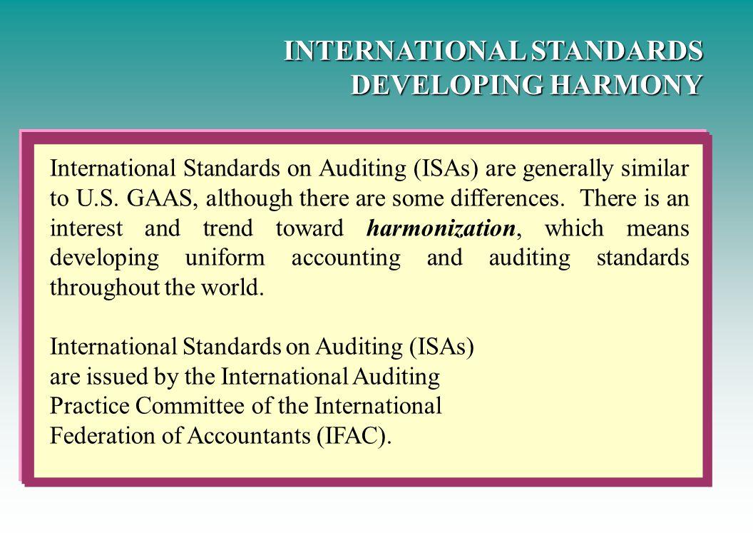 INTERNATIONAL STANDARDS DEVELOPING HARMONY