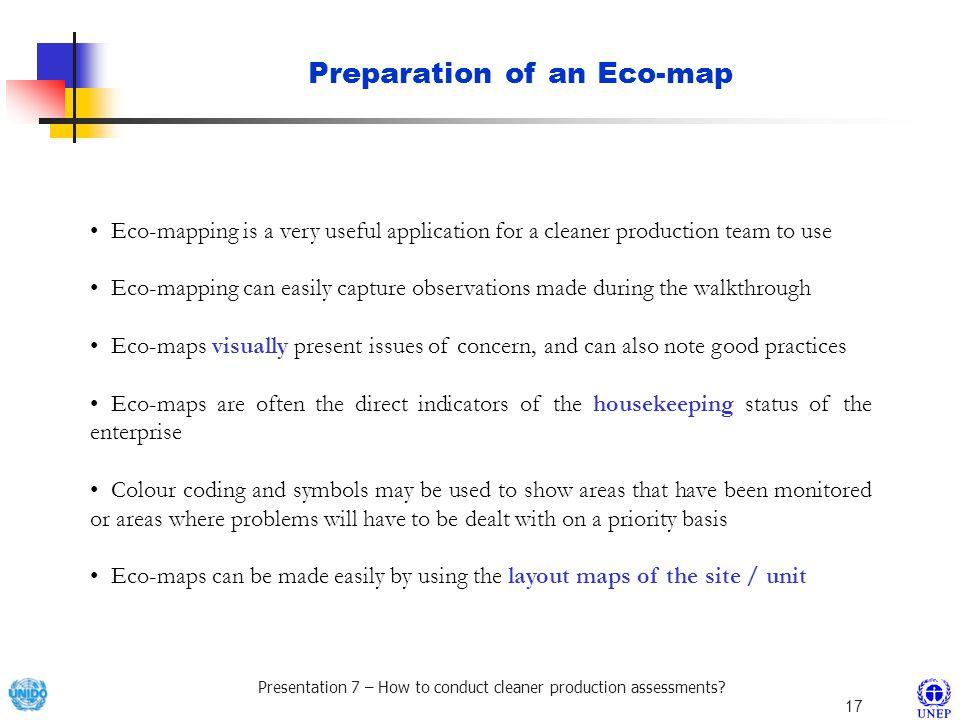 Preparation of an Eco-map