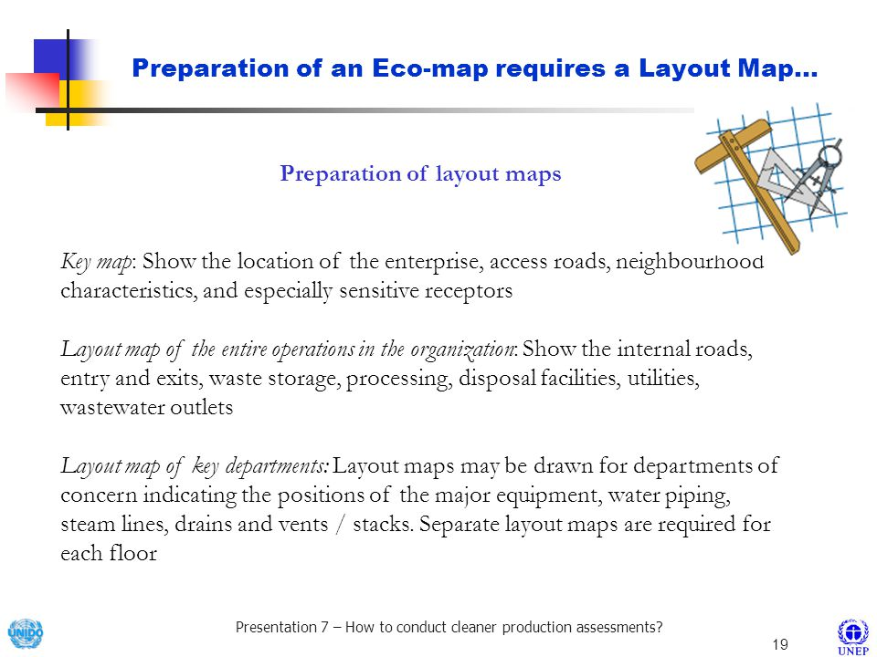 Preparation of layout maps