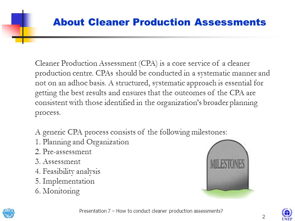 About Cleaner Production Assessments