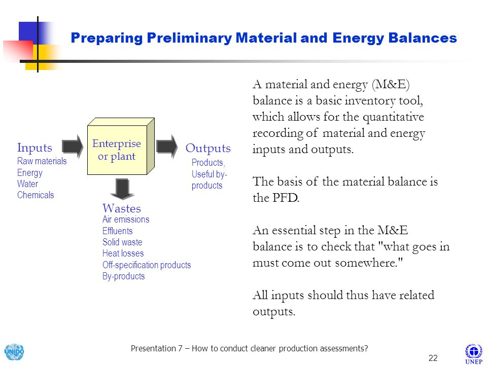 Preparing Preliminary Material and Energy Balances