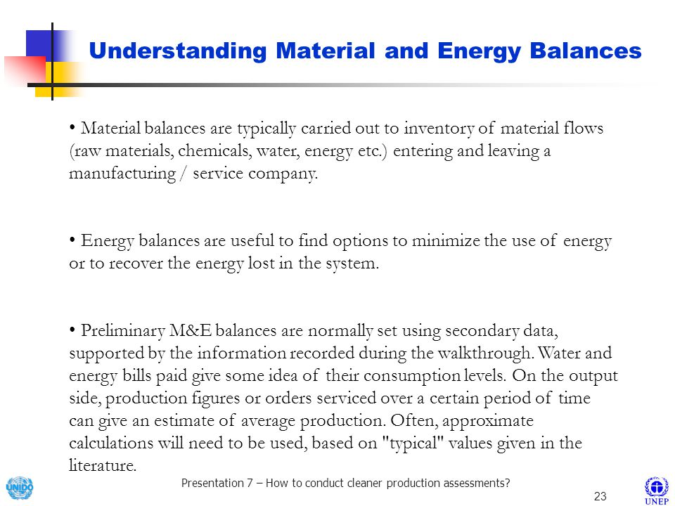 Understanding Material and Energy Balances